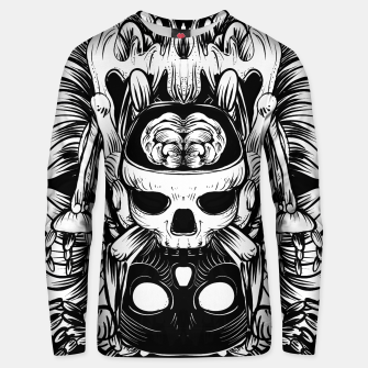 Thumbnail image of Skull and Brain Cotton sweater, Live Heroes