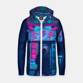 Miniature de image de Neon City Cotton zip up hoodie, Live Heroes