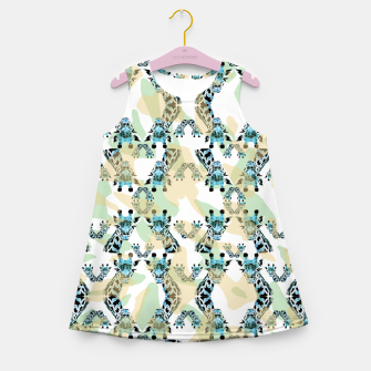 Miniatur Giraffes Girl's summer dress, Live Heroes