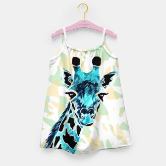 Miniatur Giraffes Face Girl's dress, Live Heroes