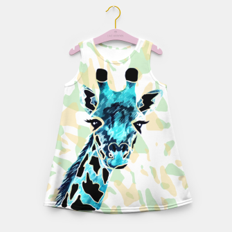 Miniatur Giraffes Face Girl's summer dress, Live Heroes