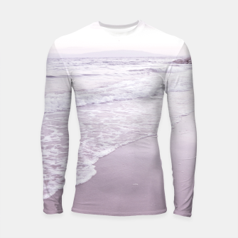 Thumbnail image of Happiness in waves Longsleeve rashguard , Live Heroes