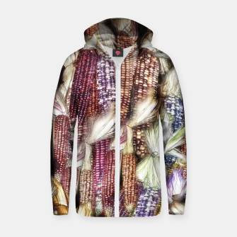 Thumbnail image of Fall Harvest Corn Cotton zip up hoodie, Live Heroes