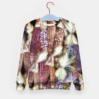 Thumbnail image of Fall Harvest Corn Kid's sweater, Live Heroes