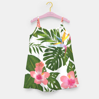 Miniaturka Jungle Floral Print Girl's dress, Live Heroes