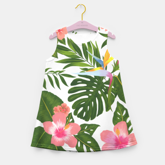 Miniatur Jungle Floral Print Girl's summer dress, Live Heroes
