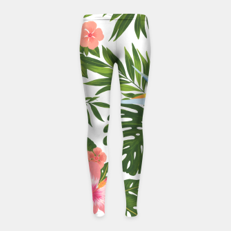 Miniaturka Jungle Floral Print Girl's leggings, Live Heroes