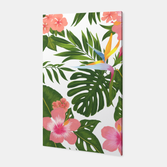 Miniatur Jungle Floral Print Canvas, Live Heroes