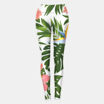 Miniatur Jungle Floral Print Leggings, Live Heroes