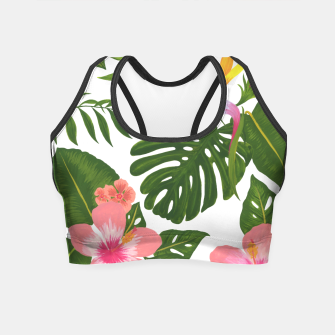 Miniatur Jungle Floral Print Crop Top, Live Heroes