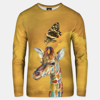 Thumbnail image of Giraffe and Butterfly Cotton sweater, Live Heroes