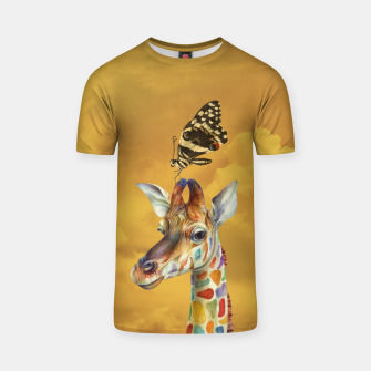 Miniature de image de Giraffe and Butterfly T-shirt, Live Heroes