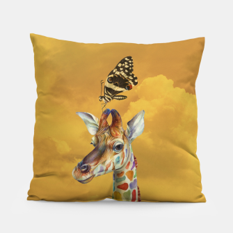 Miniatur Giraffe and Butterfly Pillow, Live Heroes