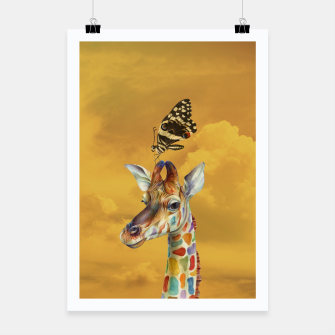 Thumbnail image of Giraffe and Butterfly Poster, Live Heroes