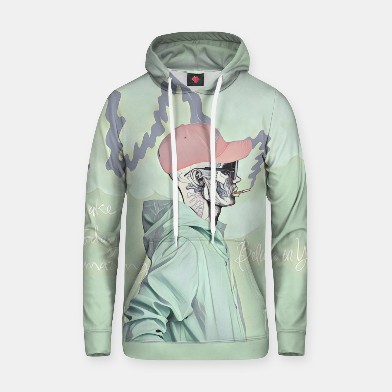Imagen de Chill and smoke  Cotton hoodie - Live Heroes