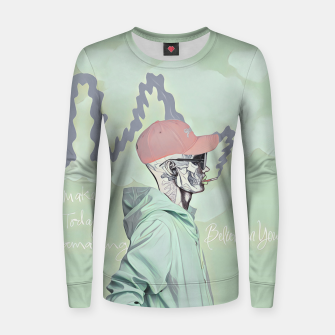 Imagen en miniatura de Chill and smoke  Woman cotton sweater, Live Heroes