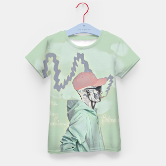 Thumbnail image of Chill and smoke  Kid's t-shirt, Live Heroes