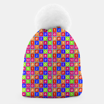 Miniaturka Numbers and Vowels Colorful Pattern Beanie, Live Heroes