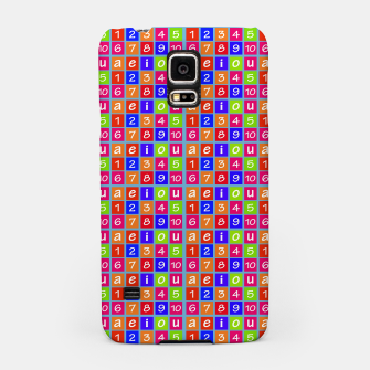 Miniaturka Numbers and Vowels Colorful Pattern Samsung Case, Live Heroes