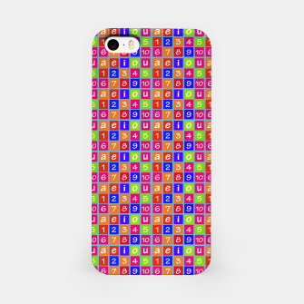 Miniaturka Numbers and Vowels Colorful Pattern iPhone Case, Live Heroes