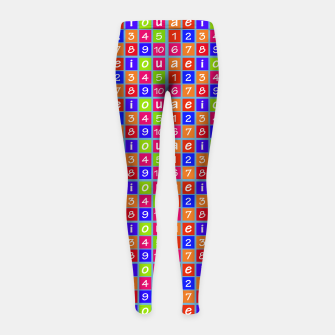 Miniaturka Numbers and Vowels Colorful Pattern Girl's leggings, Live Heroes