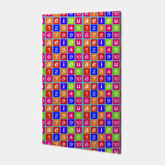 Miniaturka Numbers and Vowels Colorful Pattern Canvas, Live Heroes