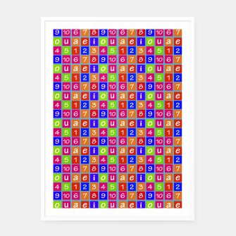 Miniaturka Numbers and Vowels Colorful Pattern Framed poster, Live Heroes