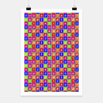 Miniaturka Numbers and Vowels Colorful Pattern Poster, Live Heroes
