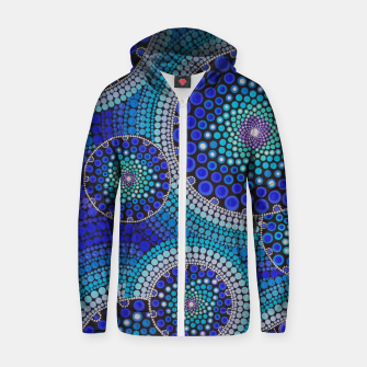 Thumbnail image of Blue Seed's Of Life Bubbles - Art&Deco By Natasha Cotton zip up hoodie, Live Heroes