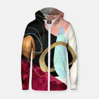 Thumbnail image of Abstract Pebbles II Cotton zip up hoodie, Live Heroes