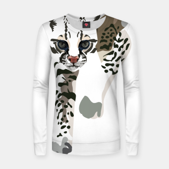 Thumbnail image of Minimal Ocelot Woman cotton sweater, Live Heroes