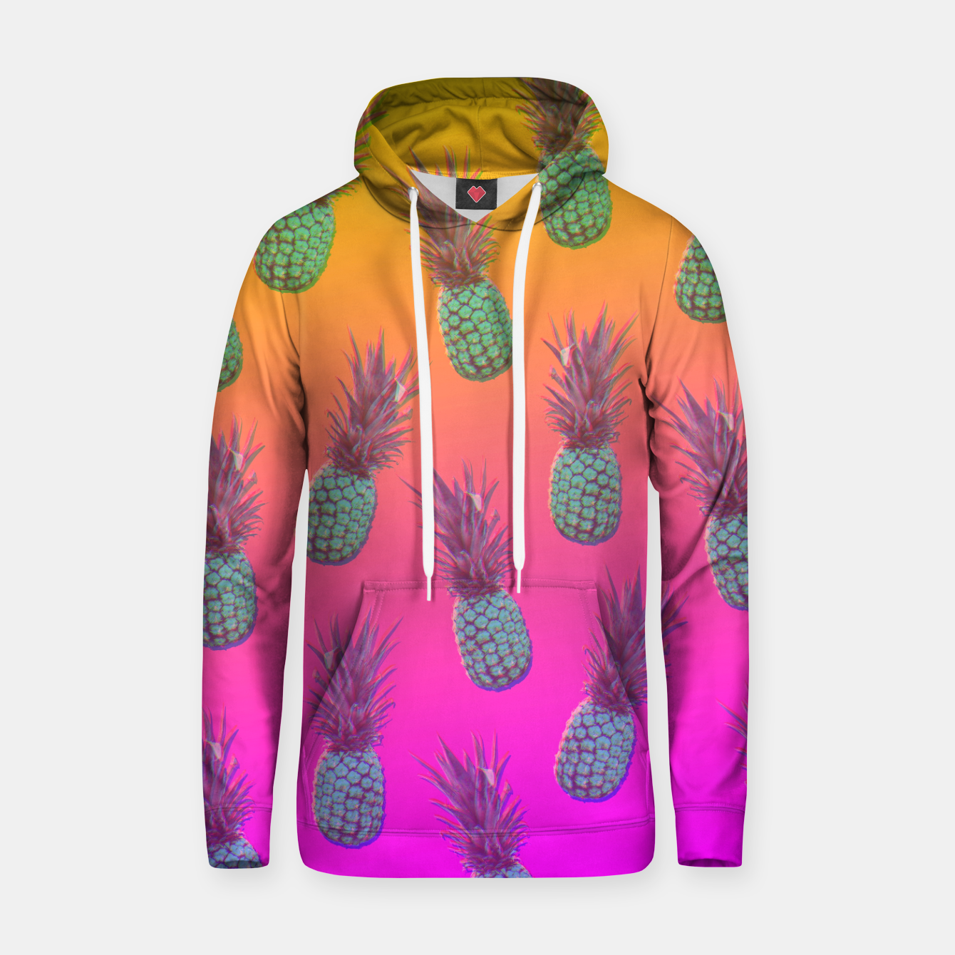 Image of Pineapple dream Bawełniana bluza z kapturem - Live Heroes
