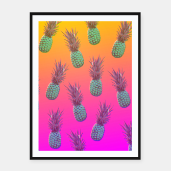 Pineapple dream Plakaty w ramie  thumbnail image