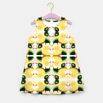 Miniatur Pato Amarillo  Girl's summer dress, Live Heroes