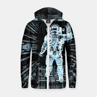 Thumbnail image of Data Horizon Astronaut Cotton zip up hoodie, Live Heroes