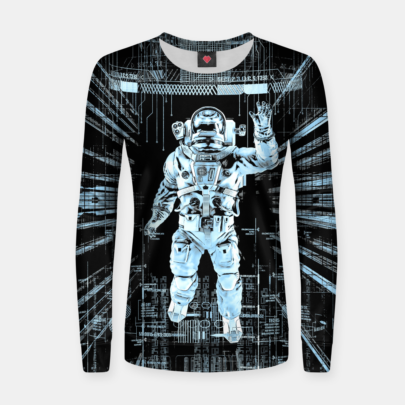 Image of Data Horizon Astronaut Woman cotton sweater - Live Heroes