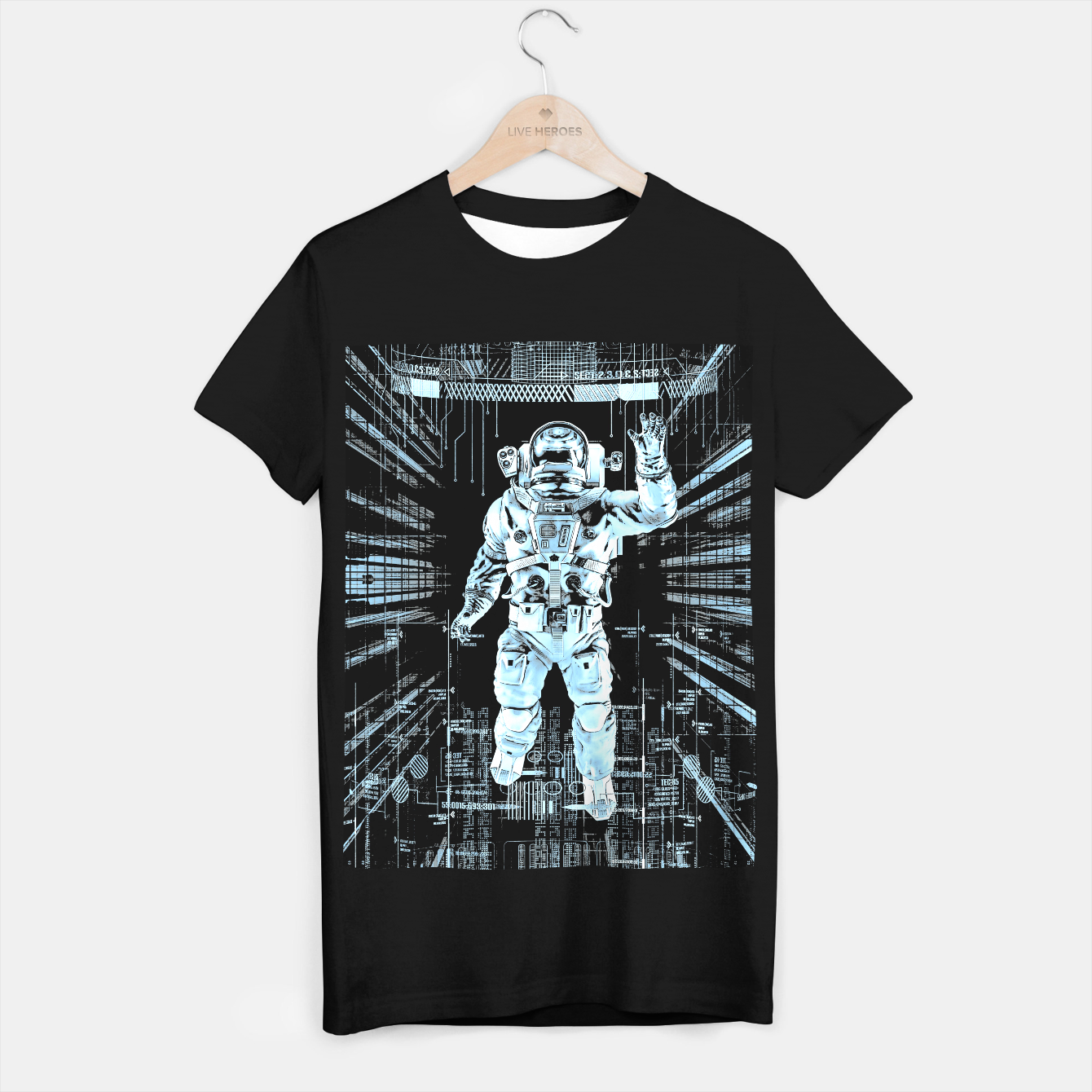Image of Data Horizon Astronaut T-shirt regular - Live Heroes