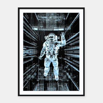 Thumbnail image of Data Horizon Astronaut Framed poster, Live Heroes