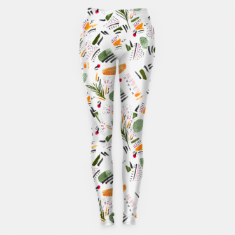 Brushstrokes of abstract nature Leggings thumbnail image