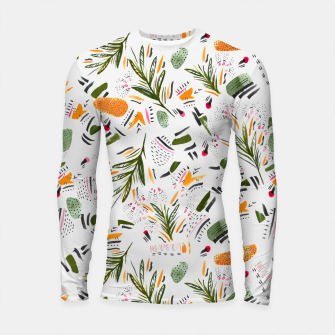 Brushstrokes of abstract nature Longsleeve rashguard thumbnail image