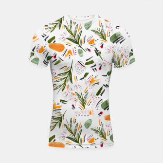 Miniatur Brushstrokes of abstract nature Shortsleeve rashguard, Live Heroes