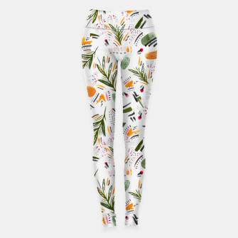 Thumbnail image of Brushstrokes of abstract nature Leggings, Live Heroes