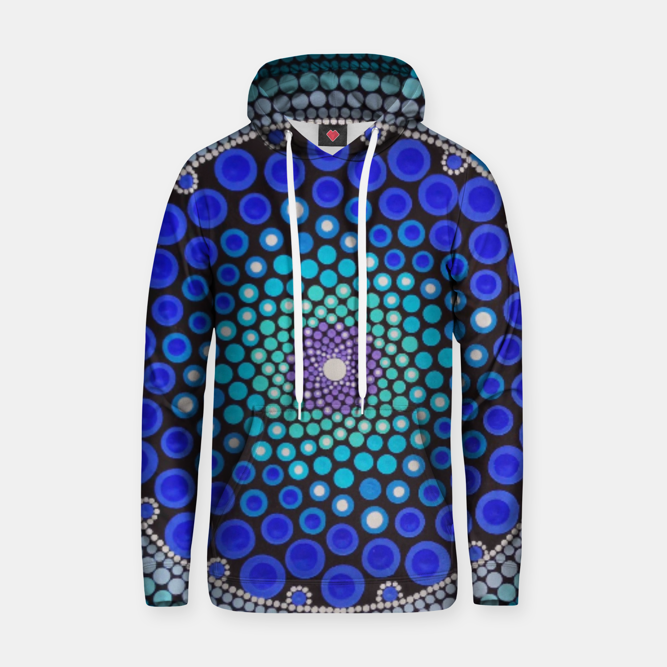 Image of Blue Seed's Of Life Bubbles - Art&Deco By Natasha Cotton hoodie - Live Heroes