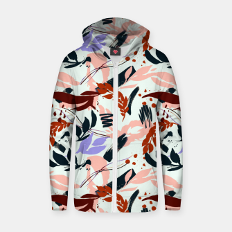 Thumbnail image of Modern abstract nature I Sudadera con capucha y cremallera de algodón , Live Heroes