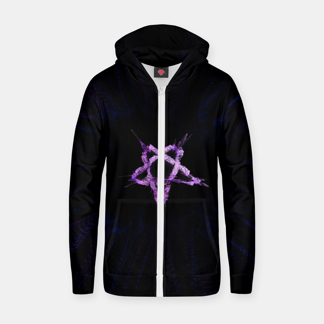 Image of ⛧ DK ⛧ Cotton zip up hoodie - Live Heroes