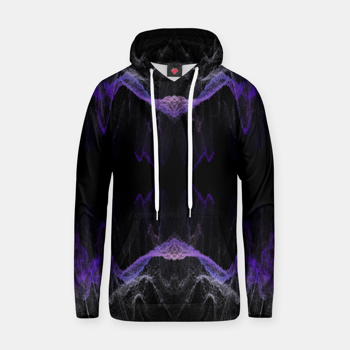 Image of just.waves Cotton hoodie - Live Heroes
