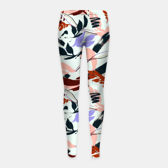 Thumbnail image of Modern abstract nature I Leggings para niña, Live Heroes