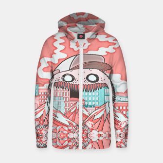 Monster attack  Cotton zip up hoodie thumbnail image