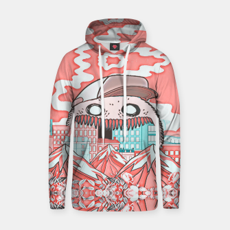 Monster attack  Cotton hoodie thumbnail image
