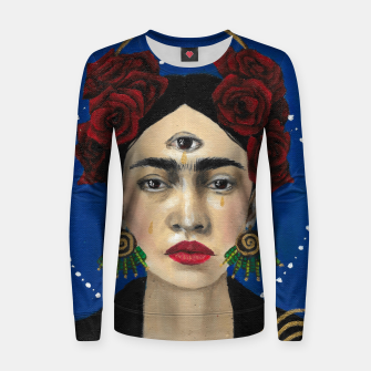 Thumbnail image of FRIDA Woman cotton sweater, Live Heroes